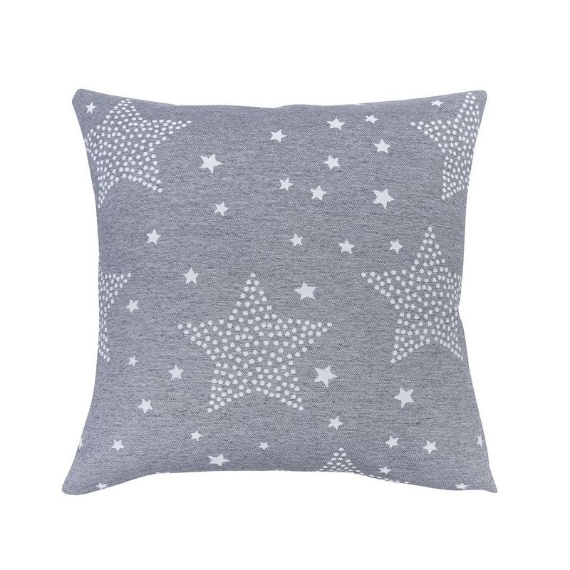 Funda para cojín de cama STARS estrellas color gris