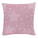 Funda para cojín de cama STARS estrellas color rosa
