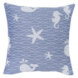 Funda de almohada decorativa cuadrada OCEAN rosa
