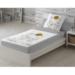 Saco nórdico cama Ikea 70x160 CONEJO en la CIUDAD con fuelle, cremallera, bajera y relleno