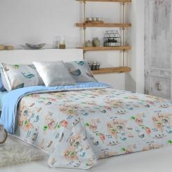 Funda nórdica con relleno y bajera MONDO B para cama niños 90 o 105