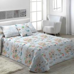 Edredón nórdico en color azul para cama MONDO B estampado original