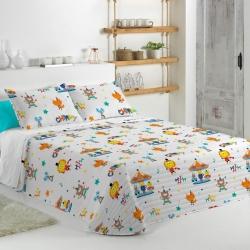 Colcha confortino de estilo divertido CIRCUS B para cama 80, 90 o 105