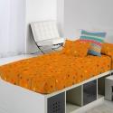 Edredón ajustable color naranja CIRCUS C para cama nido, litera o abatible