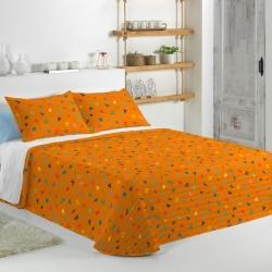 Colcha para cama de niños CIRCUS C en color naranja