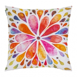 Funda para almohada de 50x50 INCA con pétalos de flores coloridas