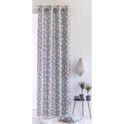 Cortinas para dormitorios juveniles TOPO con lunares gris o turquesa