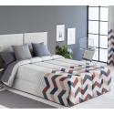 Confort con relleno de 200 gramos SOLLER zigzag color teja