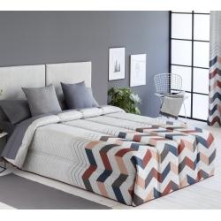 Confort con relleno de 200 gramos SOLLER zigzag color teja, lila o azul