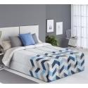 Confort con relleno de 200 gramos SOLLER zigzag color azul