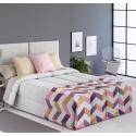 Confort con relleno de 200 gramos SOLLER zigzag color lila