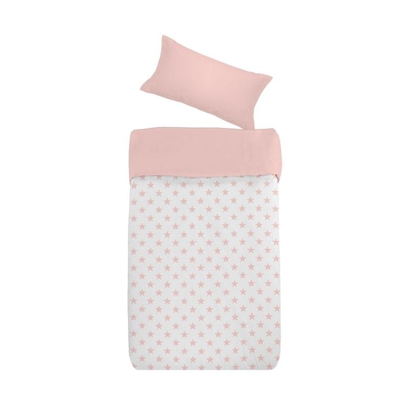 Funda nórdica ESTRELLAS rosa con bajera y relleno disponible