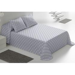 Colcha de verano para cama ESTRELLAS blancas sobre color gris, turquesa, rosa o azul