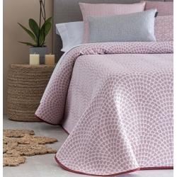 Colcha de verano juvenil ONDA relieve color rosa, gris o blanco
