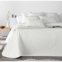 Cubierta para cama de verano IDAIRA textura color blanco