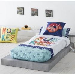 Edredón ajustable cama nido, abatible o litera de niño MONKEY mono pirata