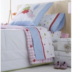 Sábanas de algodón para cama de niños MAGIC dibujo de mariposas