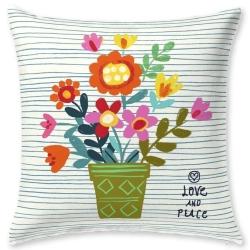 Funda de almohada con dibujo de flores IMAGINE para cama juvenil