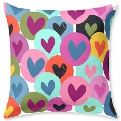 Almohada juvenil con dibujo de corazones JOY con o sin relleno