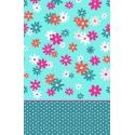 Sábanas de flores en color turquesa SELFIE