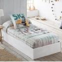 Edredón ajustable cama de 80 hasta 180 cm SKATE monopatines de JVR