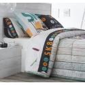 Sábanas algodón juvenil de 150x270 hasta 270x270 SKATE monopatines de JVR
