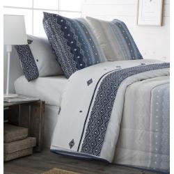 Sábanas de algodón en color azul MEXICO cama individual o grande