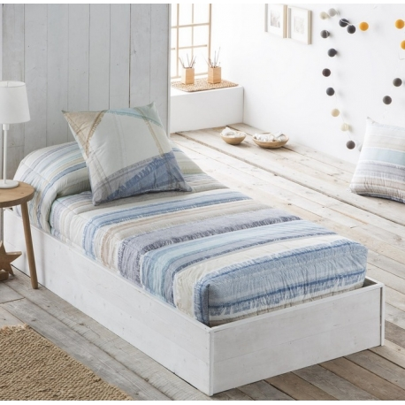 Edredón ajustable juvenil estampado DUNA cama de 80 a 180 cm
