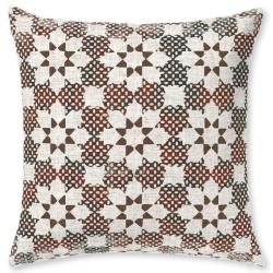 Almohada cuadrada para cama juvenil ETNIC figuras de flores