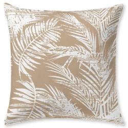Funda para cojín dibujo de palmeras NATURE color oro