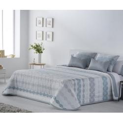 Colcha boutí de rayas para cama individual o grande ANYA perla, oro o rosa