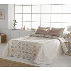 Colcha boutí cama 135, 150 o 180 cm de Tejidos JVR YARA color rosa o desierto