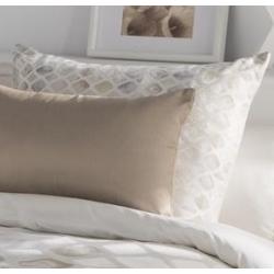 Funda rectangular para cojín de cama YARA color desierto o rosa
