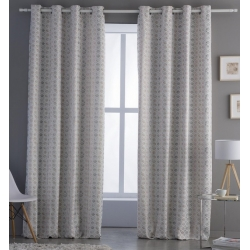 Cortinas de rombos elegantes para dormitorio YARA color desierto
