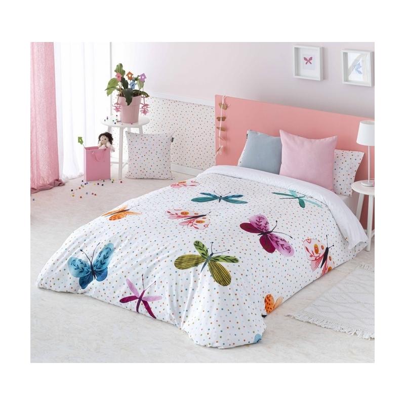 Funda nórdica con mariposas ALEGRIA para cama 90, 105 o 135 cm
