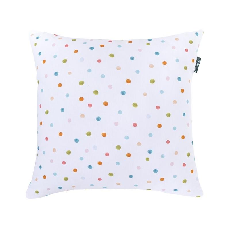 Funda de 50x50 para almohada de cama ALEGRIA puntitos de colores