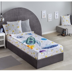 Saco nórdico infantil con cremallera COHETE para cama 90x200