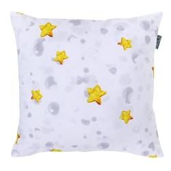 Funda de cojín con dibujo de estrellas luminosas COHETE formato 50x50 cm