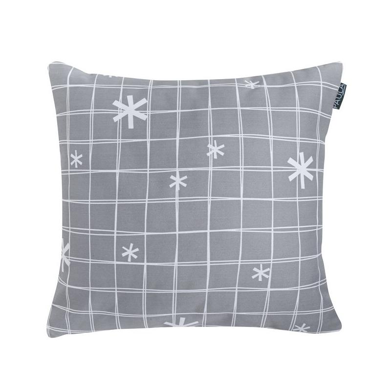 Funda almohada de 50x50 sin relleno NORDIC COORDINADO con copos de nieve