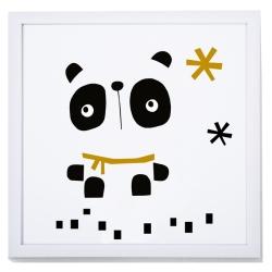 Lámina con marco para dormitorio infantil NORDIC 2 oso polar
