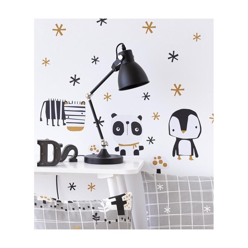 Sticker autoadhesivo para habitación infantil NORDIC osito polar y pingüino
