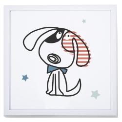Lámina decorativa para habitación de niños MAX 2 imagen de perrito con pajarita