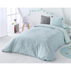 Funda nórdica infantil cama 105 o 90 CONFETI color turquesa
