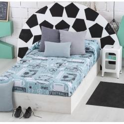 Edredón ajustable azulado SPORT cama abatible, nido o litera