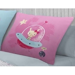Almohada cuadrada de 50 para cama PLANET color malva