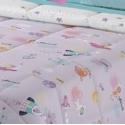 tejido reversible edredon PLANET color malva