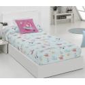 Edredones ajustables para cama nido o litera PLANET color azul turquesa