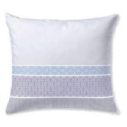 Funda de 50x60 para almohada decorativa CORAL rayas color azul