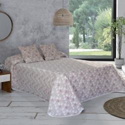 Colcha capa en piqué para cama 2 plazas o individual DARLING color rosa