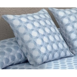 Funda decorativa para cojín cuadrado KIRBY color azul